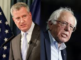 bernie sanders screws up bill de blasio u0027s political calculus