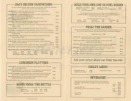 jims country style restaurant menu pleasanton dineries