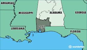 area code for alabama usa where is area code 251 map of area code 251 mobile al area code