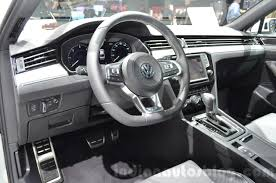 white volkswagen passat interior vw passat interior at the 2016 geneva motor show indian autos blog
