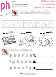 Ph Worksheet Beginning Consonant Blend Worksheets Two Letter Blend Phonics