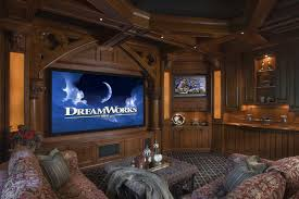 living room home theater setup and cozy theatre with luxury chairs