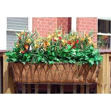 ideas for deck railing planters containers front yard
