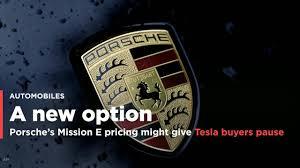 porsche mission price porsche u0027s mission e pricing might give tesla buyers pause video