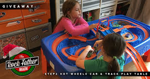 step2 wheels table holiday wish guide giveaway step2 wheels car track play table