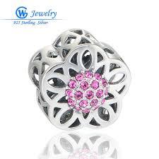 flower girl charms trendy lovely heart flower girl charm sterling 925 silver jewelry