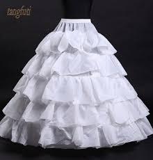 hoop wedding dress petticoat for wedding dresses 5 layers underskirt white