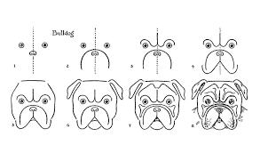 vintage kids printable draw a bulldog the graphics fairy