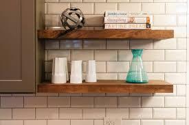 wall mounted wood kitchen shelves wall mounted kitchen shelves