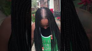 cornrows hairstyle with part in the middle tribal braids youtube
