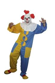 Scary Halloween Clown Costumes Scary Clown Blue U0026 Yellow Costume Halloween Fancy Dress