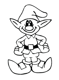 coloring pages of elf christmas elf coloring pages printable cute elves coloring pages