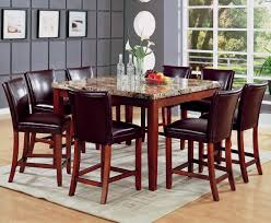 Coaster Dining Room Sets Coaster Telegraph Marble Top Counter Height Table Set