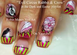 nail art tutorials diy halloween nails scary circus nail art