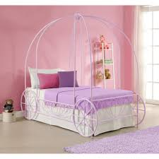 Metal Bedroom Furniture Dhp Metal Twin Carriage Bed Hayneedle