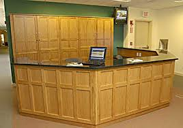 Granite Reception Desk Wilson Woodworking Shaker Furniture Traditional And