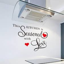 this kitchen is seasoned with love wall sticker art home kitchen this kitchen is seasoned with love wall sticker art home kitchen decor excellent