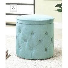 Aqua Storage Ottoman Blue Tufted Fabric Upholstered Storage Ottoman Coaste