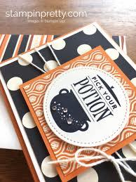 festive phrases halloween card stampin u0027 pretty