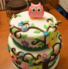 Owl Decorations by Owl Cake Done With Buttercream Decorations Owl Elephant Cakes