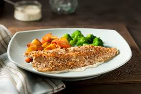 almond u0026 sunflower seed crusted rainbow trout with dijon white
