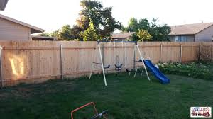 backyard wood fence in meridian
