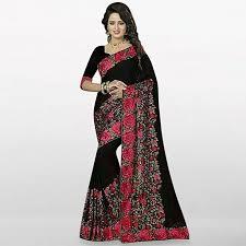 bangladeshi fashion house online shopping saree house black georgette saree for women buy online daraz
