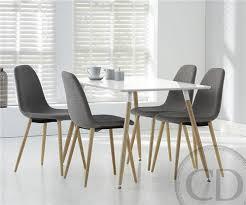 table de cuisine blanche table de cuisine blanche scandinave equinox sur cdc design