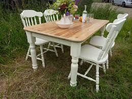 Antique Farm Tables Antique Pine Farmhouse Table And 4 Chairs Painted Vintage Antique