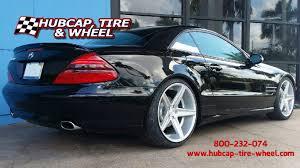 mercedes staggered wheels silver niche apex wheels on a black 2003 mercedes sl500