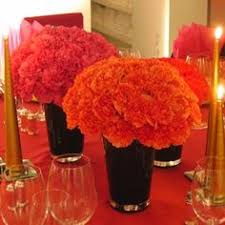 Carnation Flower Ball Centerpiece by Carnation Balls In Galvanized Buckets Pretty With Glass Vases I
