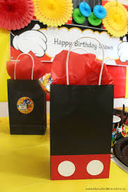 mickey mouse favor bags mickey mouse party ideas for kids munchkins