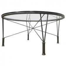 glass top metal coffee table foter