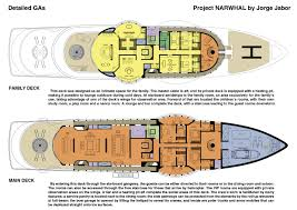 125m megayacht narwhal concept family and main decks u2014 yacht