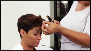 what kind of hair is used for pixie braid pixie short style using design essentials youtube