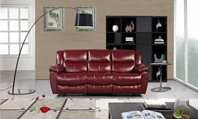 bonded leather sofa with dual reclining seats groupon