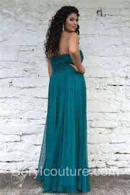 Formal Dresses San Antonio Beautiful Strapless Long Teal Blue Chiffon Beaded Plus Size Formal