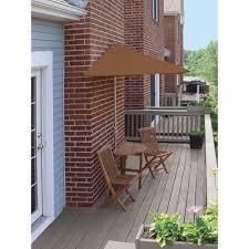 Half Umbrella For Patio Blue Terrace Mates Bistro Standard 5 Patio Bistro