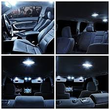 Interior Car Led Light Kits Amazon Com Aaron Cool White Interior Lighting Led Kit For 2006