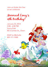 images of little mermaid printable birthday sc