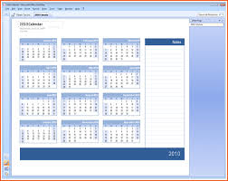 office calendar templates