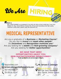 Seeking Quezon City Bell Kenz Pharma Careers