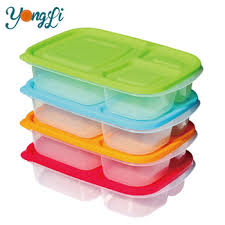 Plastic Storage Containers Dividers - china lunch container with dividers 3 compartment clear plastic