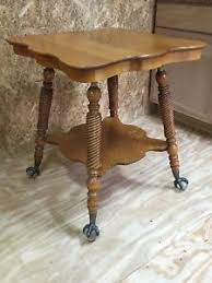 claw foot table with glass balls in the claw antique tiger oak parlor l end side table with glass ball claw