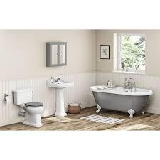camberley grey bathroom suite with freestanding bath