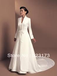 manteau mariage à manches longues de mariée en satin veste de mariage blanc d