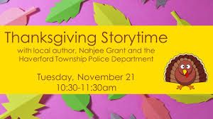 thanksgiving storytime haverford township free library