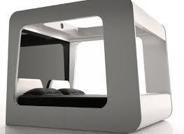 Modern Canopy Bed Canopy Bed Futuristic Design High Fidelity Canopy By Edoardo