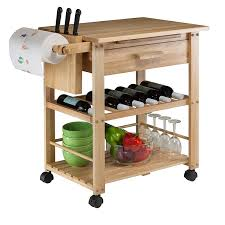 kitchen islands with wine racks amazon com winsome wood finland kitchen cart kitchen islands