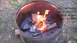 Smokeless Fire Pit by Quick 55 Gallon Drum Fire Pit Youtube